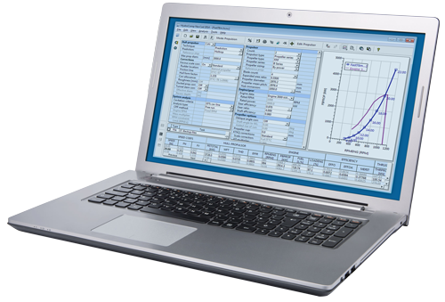 Laptop showing NavCad sofware