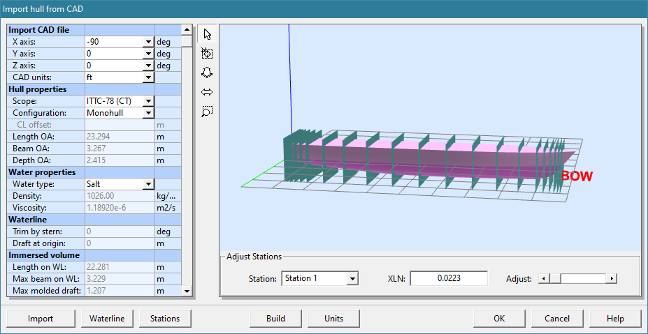 New features in NavCad Hull CAD Import